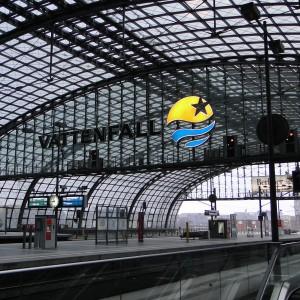 Hauptbahnhof Berlin, unbrennbares Digitaldruckgewebe