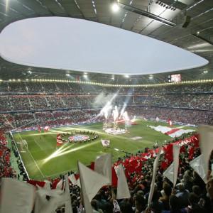 Allianz Arena München, Licht- und Akustikgewebe