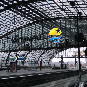 Main station Berlin, uncombustible glass digital print fabric