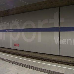 Vienna airport, subway station