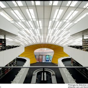 Philological library, University of Berlin, light, acoustic and climatic ceiling