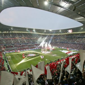 Munich Football stadium, light and acoustic sails